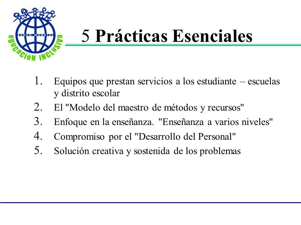 5 Prácticas Esenciales Equipos que prestan servicios a los estudiante – escuelas y distrito escolar.