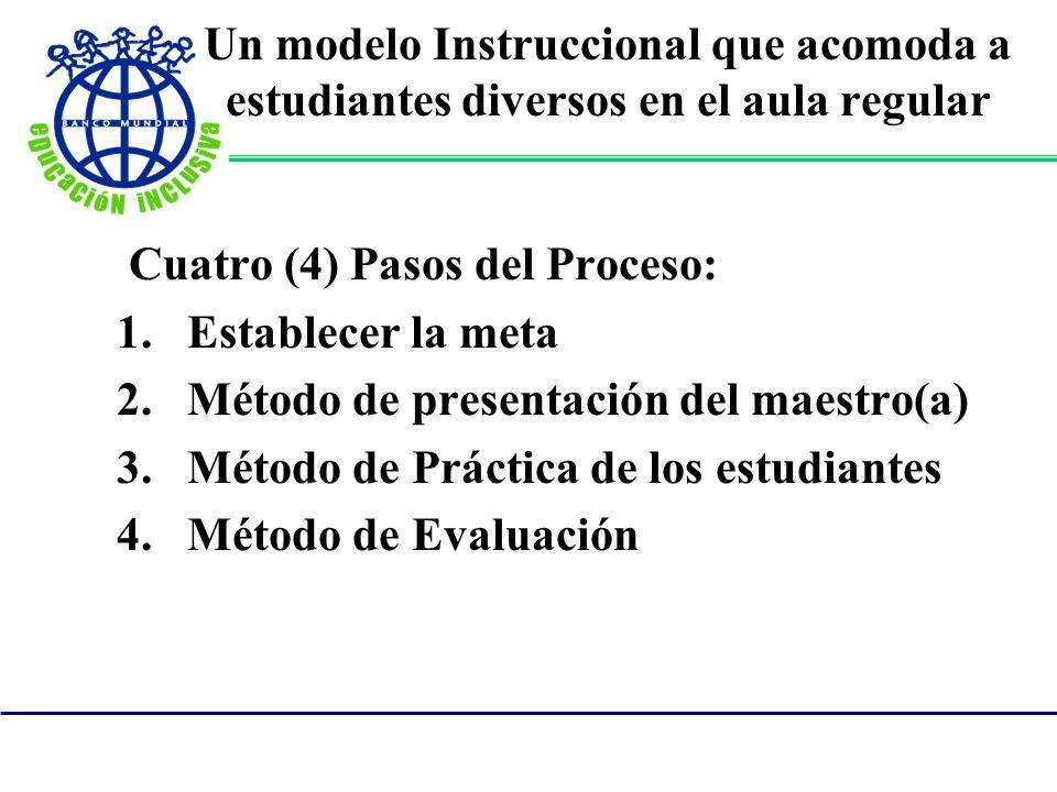 Un modelo Instruccional que acomoda a estudiantes diversos en el aula regular