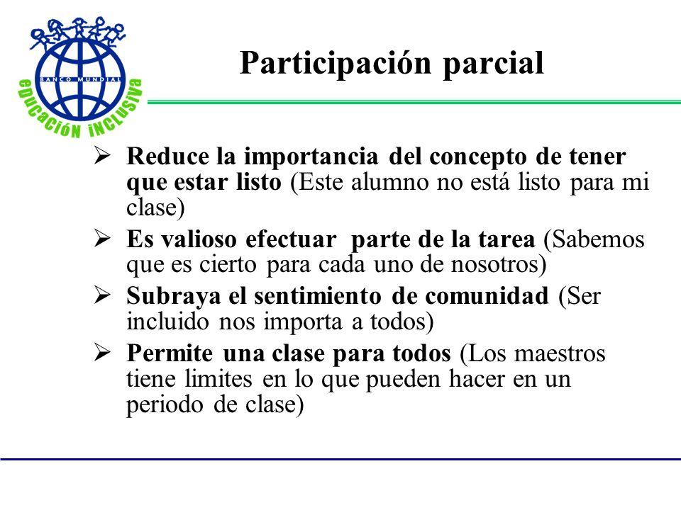 Participación parcial