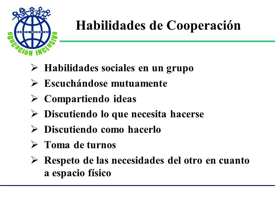 Habilidades de Cooperación