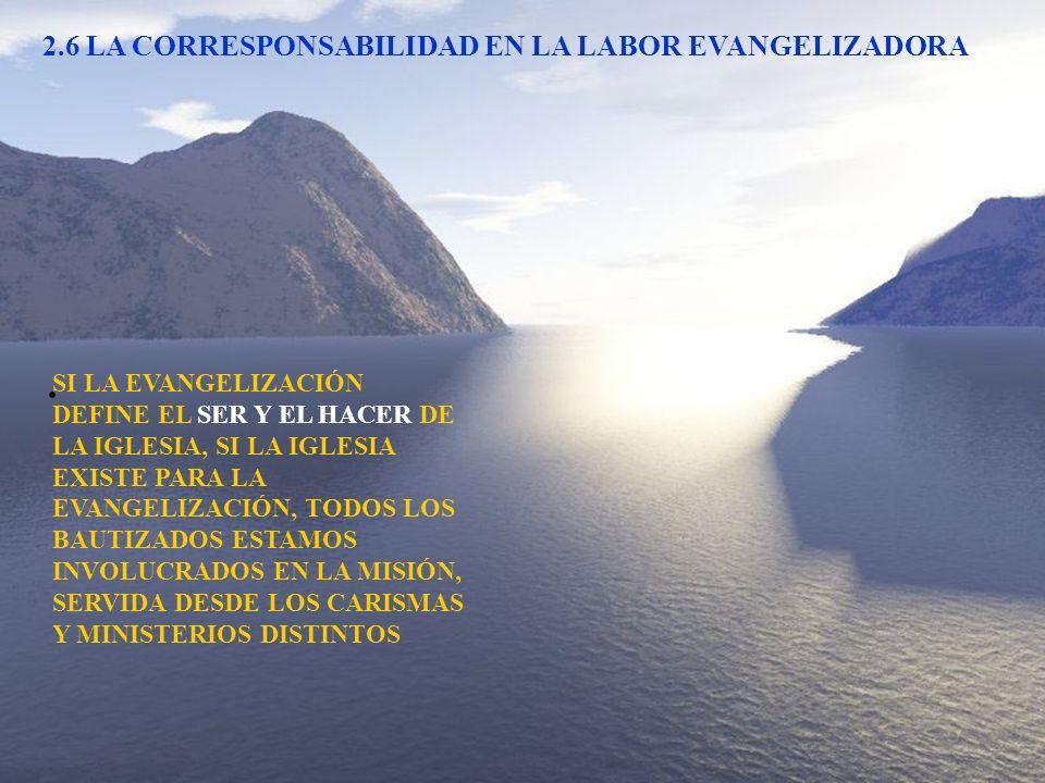 2.6 LA CORRESPONSABILIDAD EN LA LABOR EVANGELIZADORA