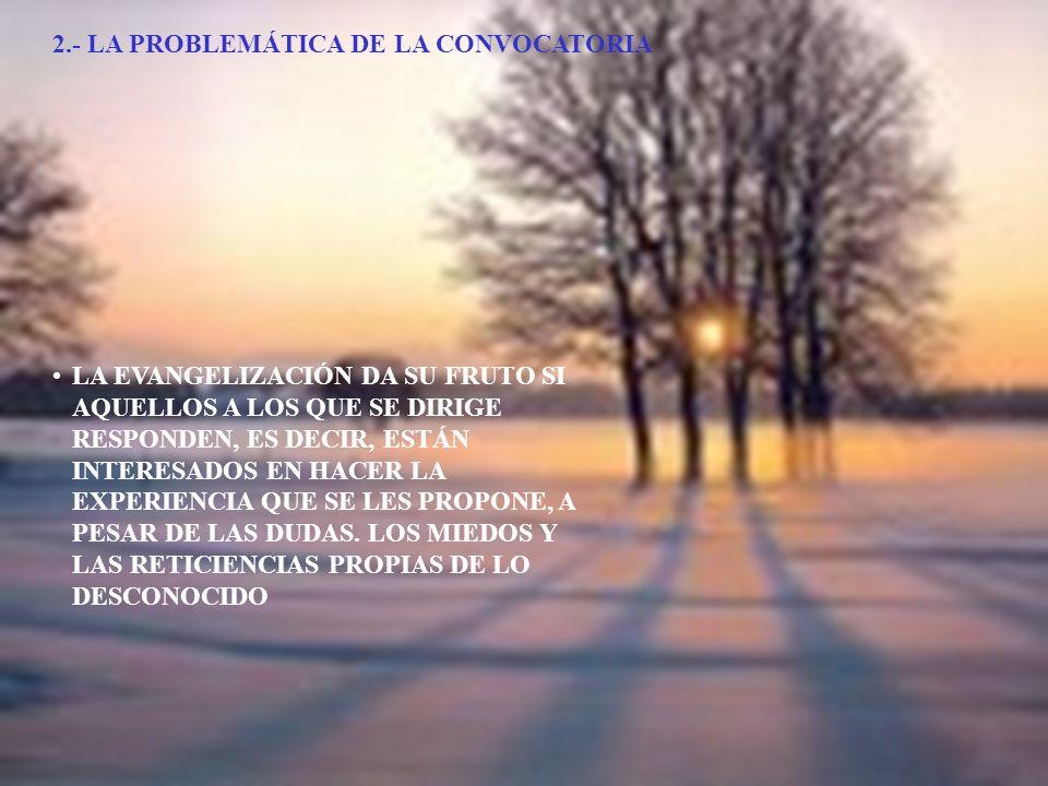 2.- LA PROBLEMÁTICA DE LA CONVOCATORIA