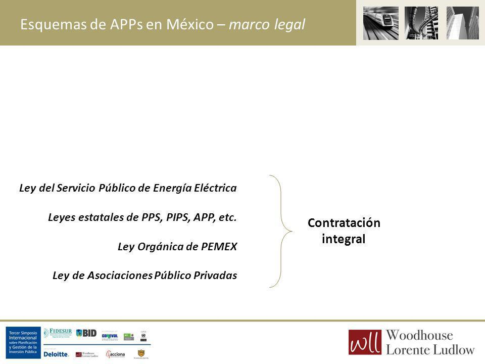 Esquemas de APPs en México – marco legal