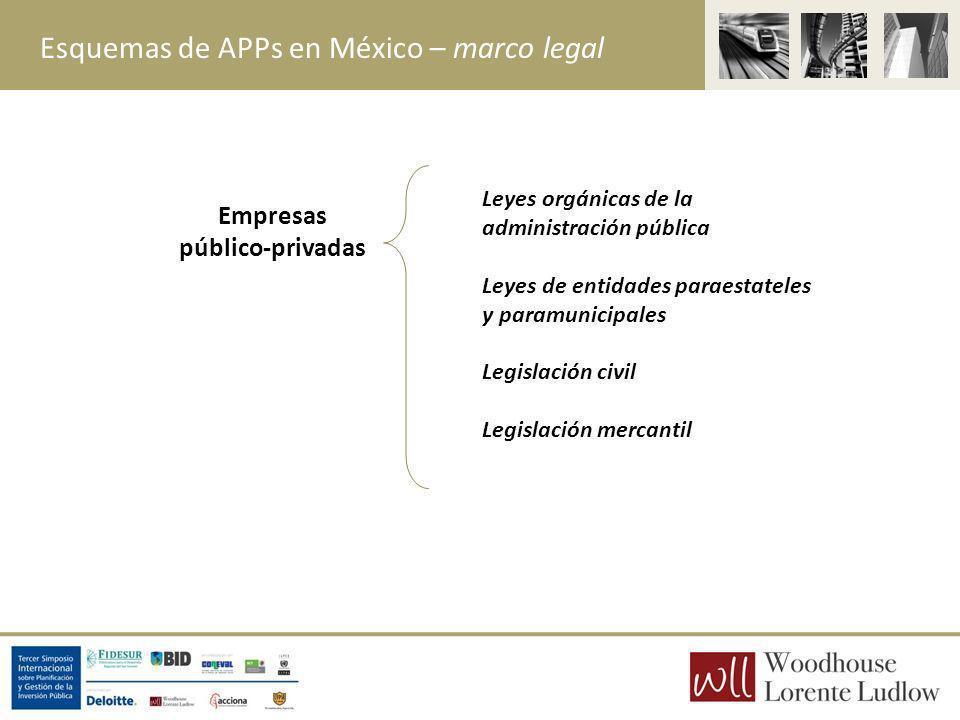 Esquemas de APPs en México – marco legal