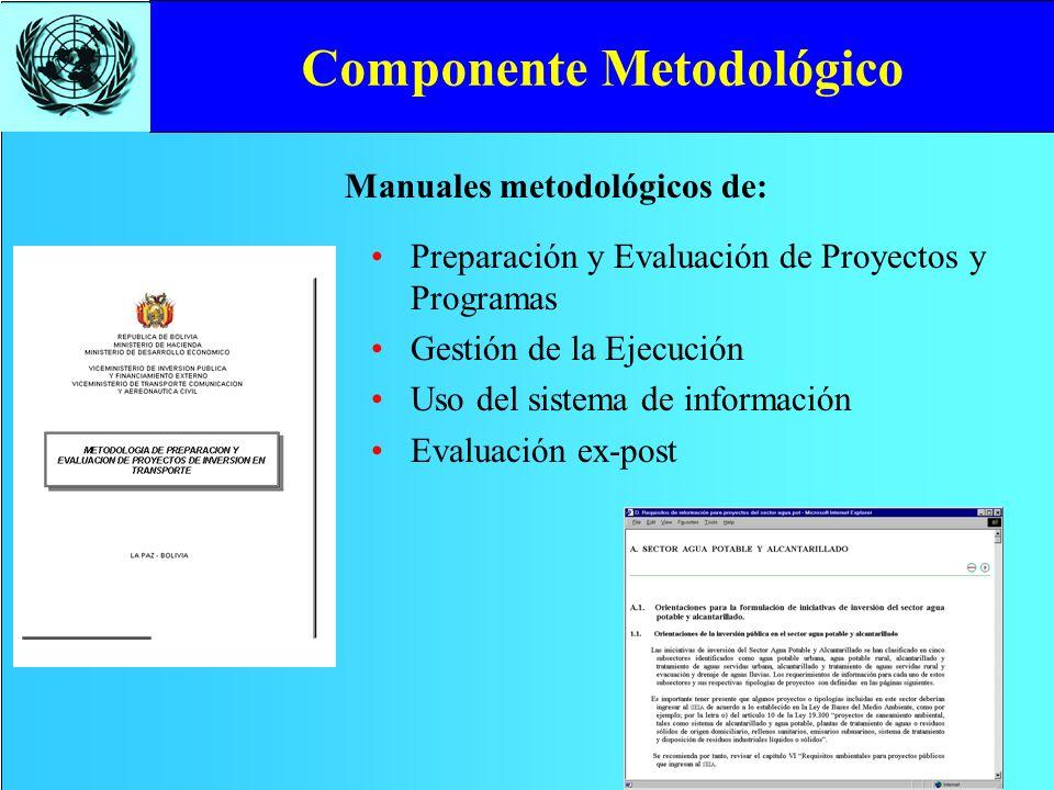 Componente Metodológico