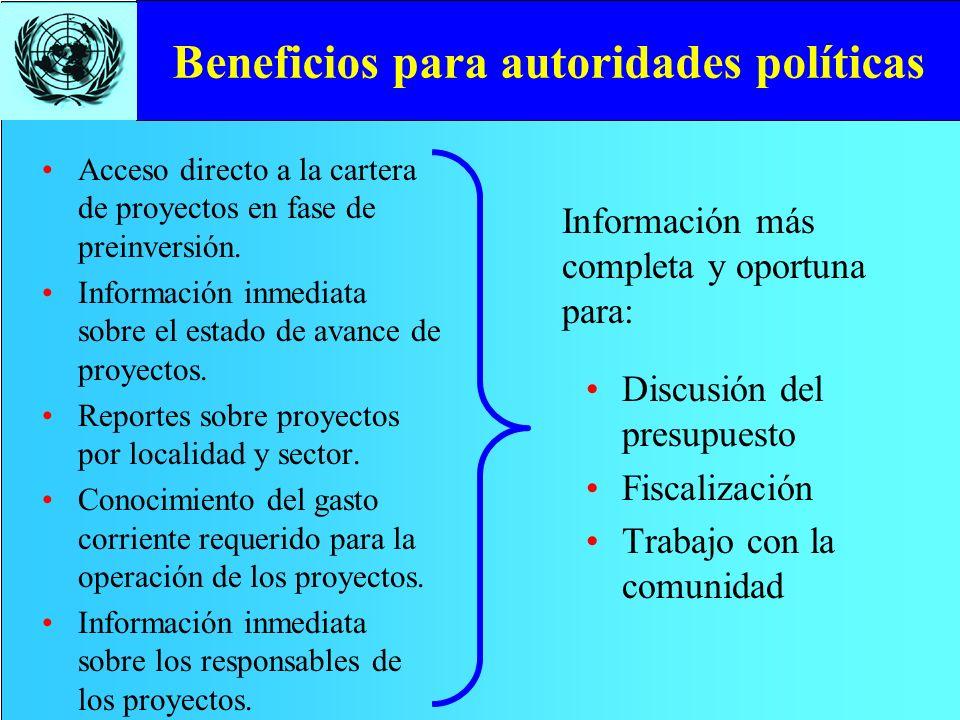 Beneficios para autoridades políticas