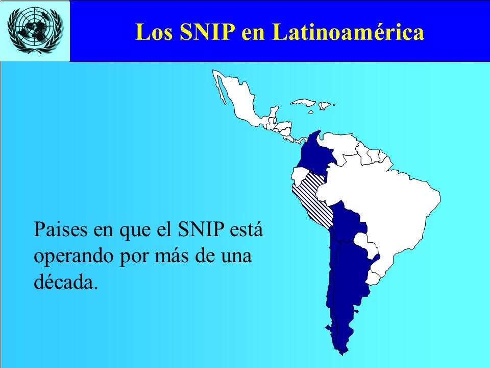 Los SNIP en Latinoamérica