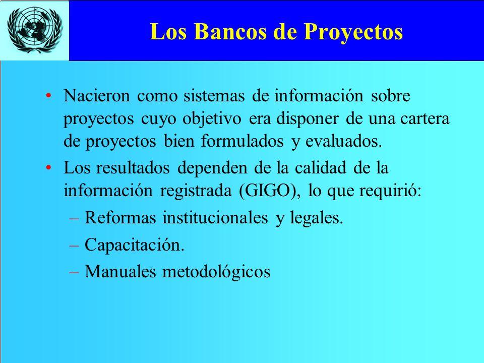 Los Bancos de Proyectos