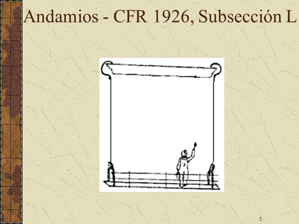 Andamios - CFR 1926, Subsección L