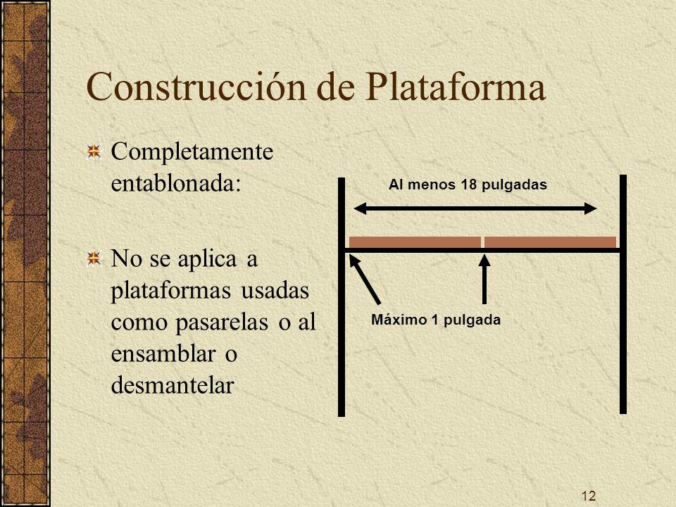 Construcción de Plataforma
