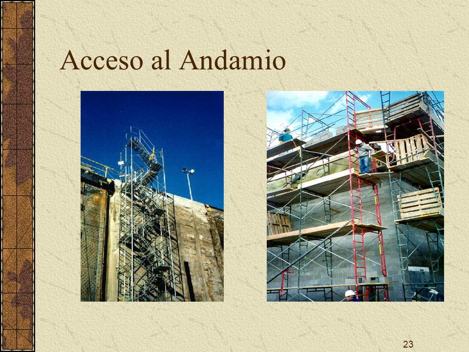 Acceso al Andamio