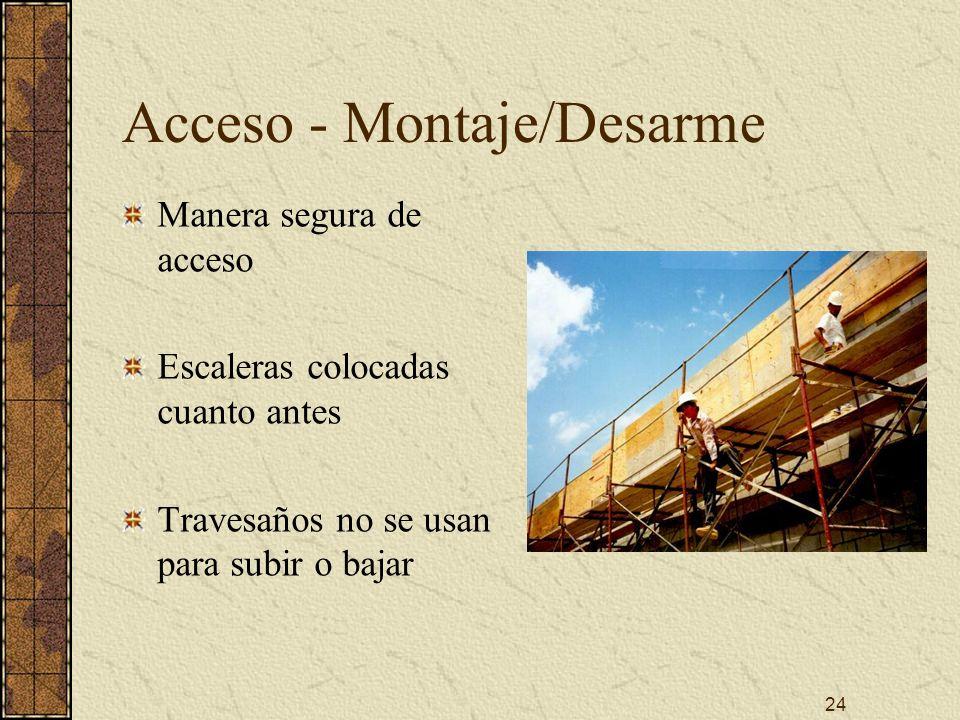 Acceso - Montaje/Desarme