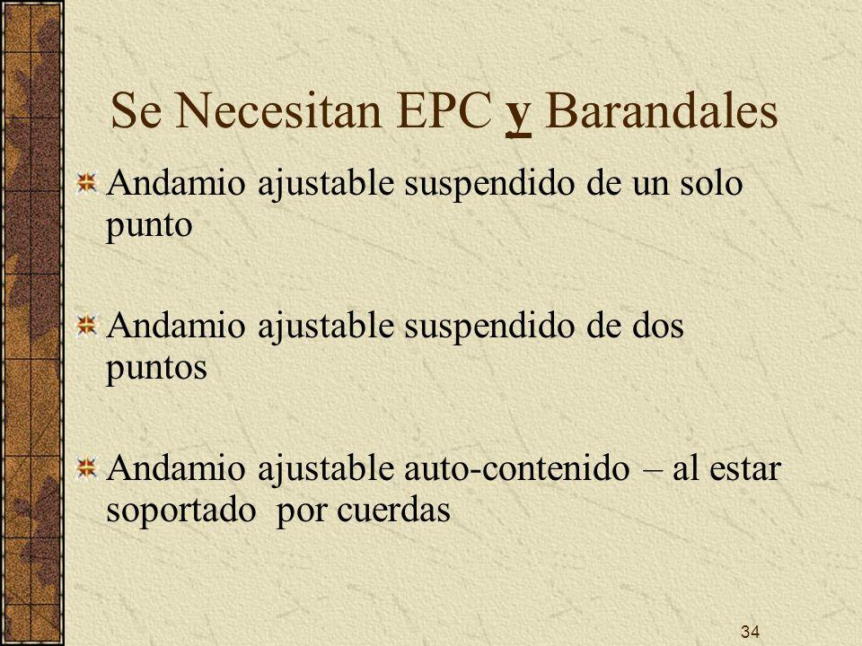 Se Necesitan EPC y Barandales