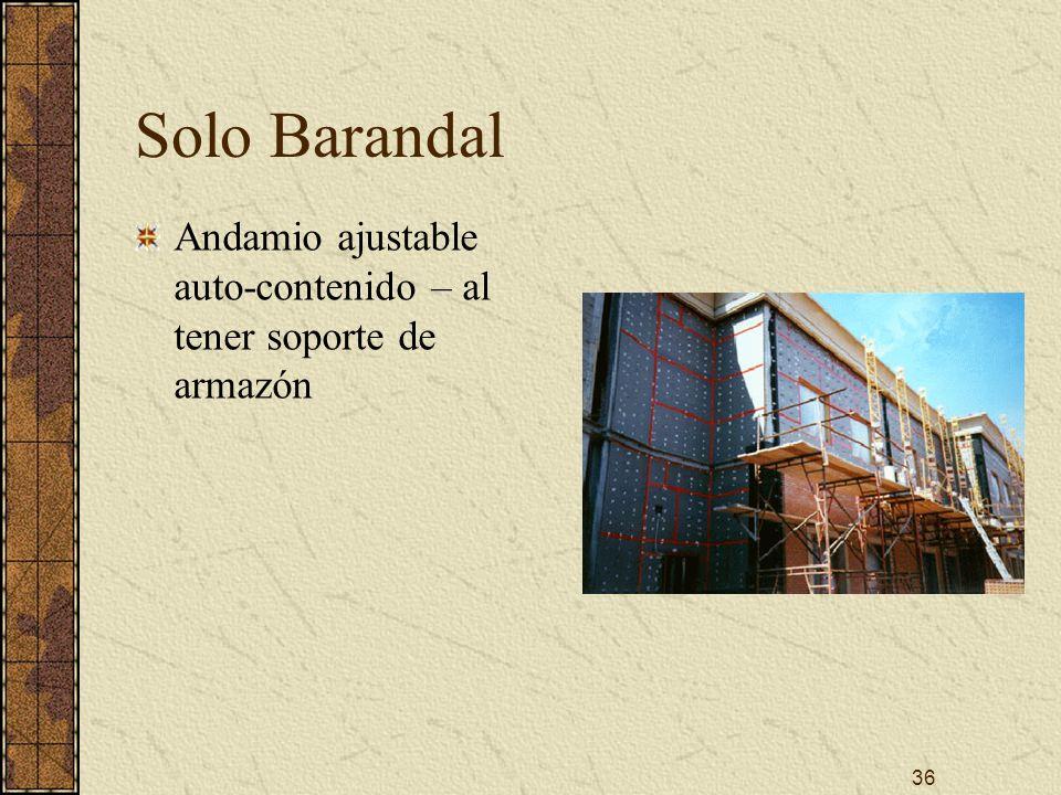 Solo Barandal Andamio ajustable auto-contenido – al tener soporte de armazón.