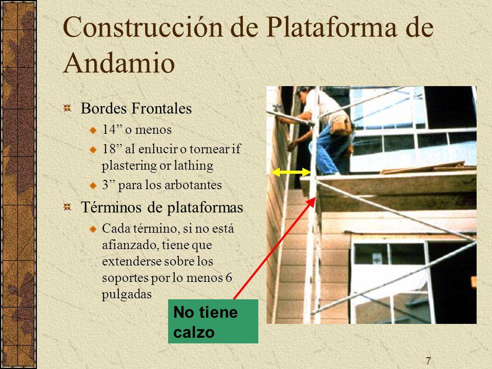 Construcción de Plataforma de Andamio
