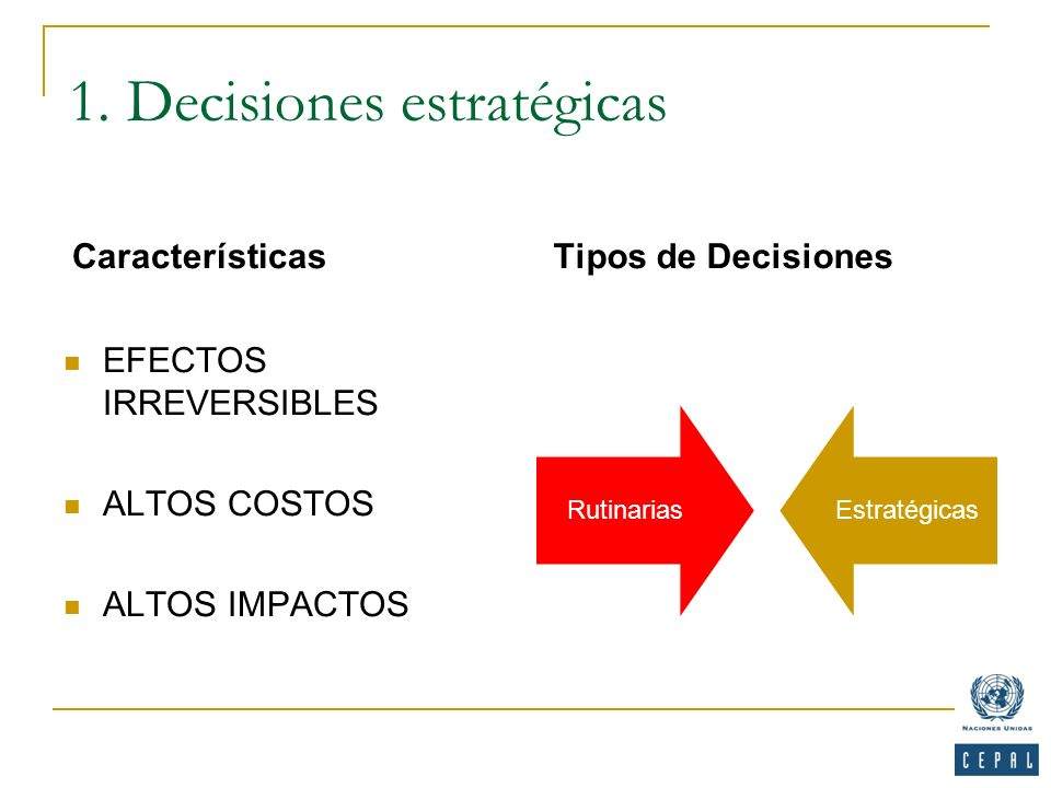 1. Decisiones estratégicas