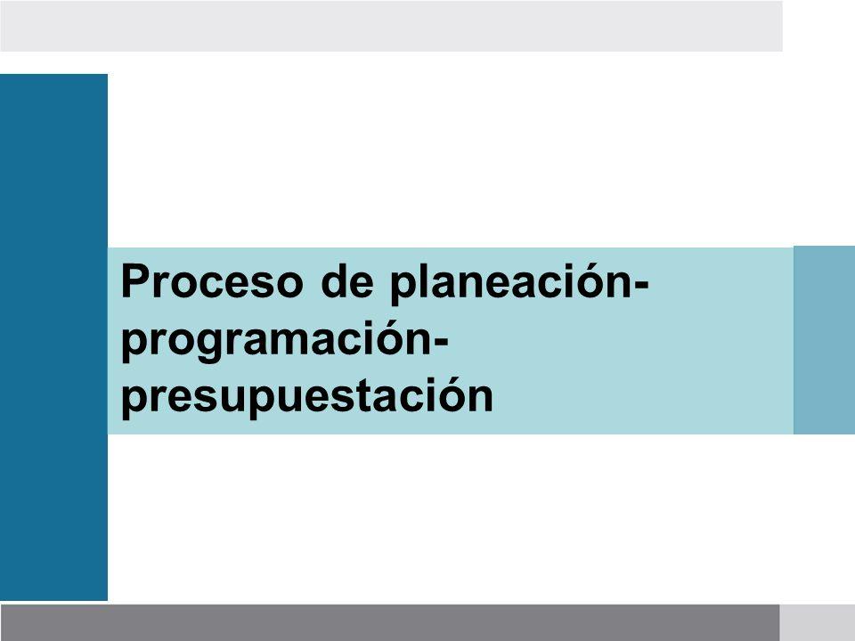 Proceso de planeación-programación-presupuestación