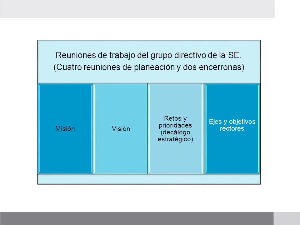 Reuniones de trabajo del grupo directivo de la SE.