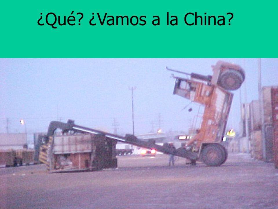 ¿Qué ¿Vamos a la China