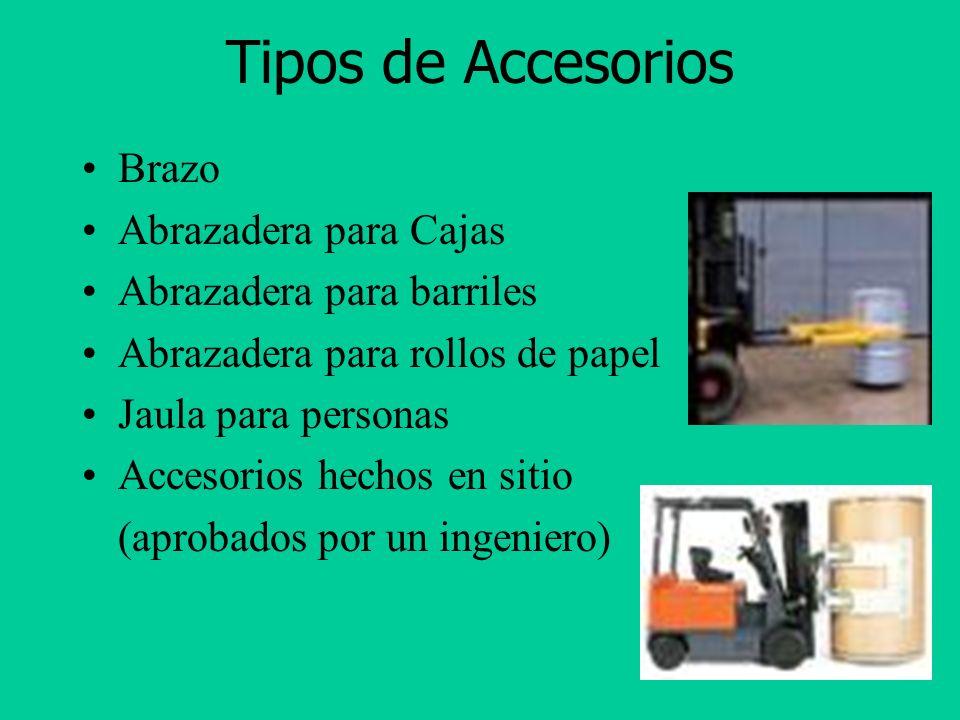 Tipos de Accesorios Brazo Abrazadera para Cajas