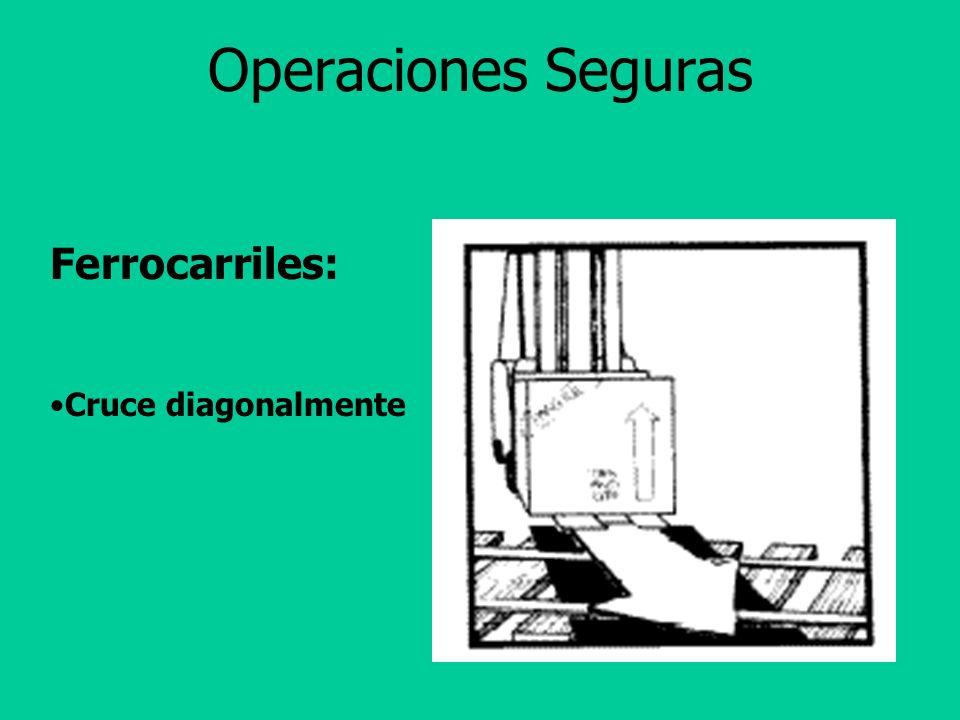 Operaciones Seguras Ferrocarriles: Cruce diagonalmente