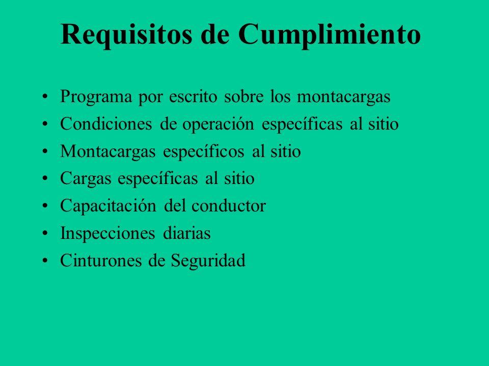 Requisitos de Cumplimiento