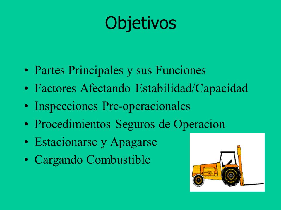 Objetivos Partes Principales y sus Funciones