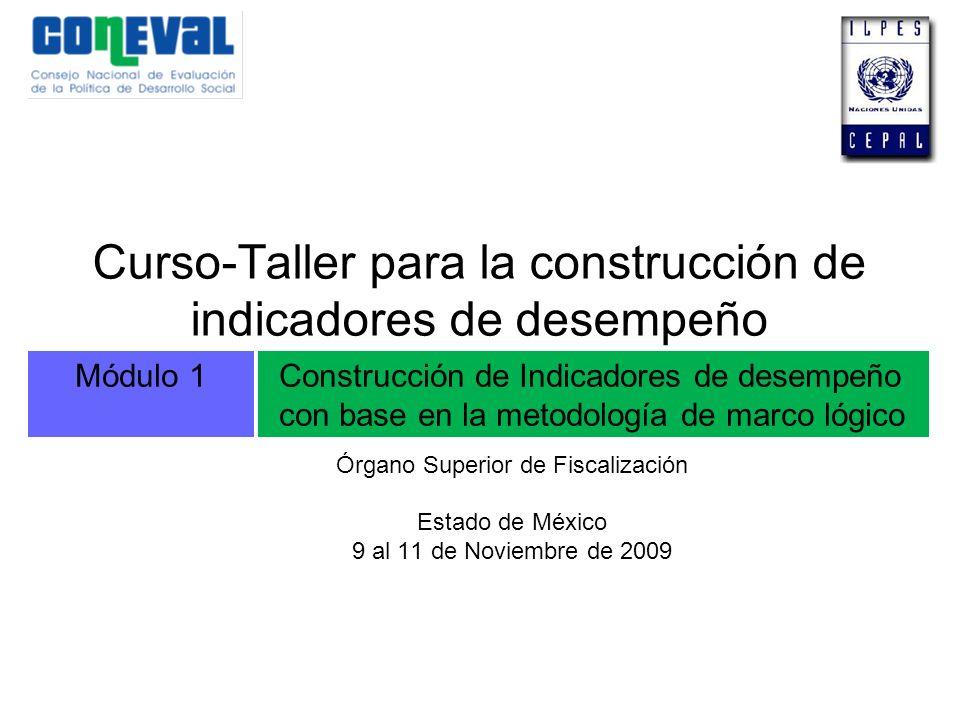 Curso-Taller para la construcción de indicadores de desempeño