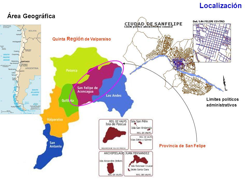 Localización Área Geográfica Quinta Región de Valparaíso