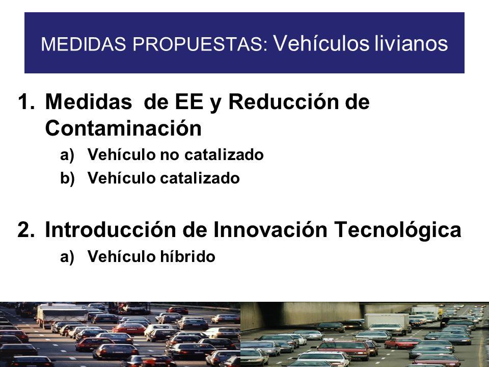 MEDIDAS PROPUESTAS: Vehículos livianos