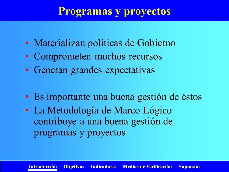 Programas y proyectos Materializan políticas de Gobierno