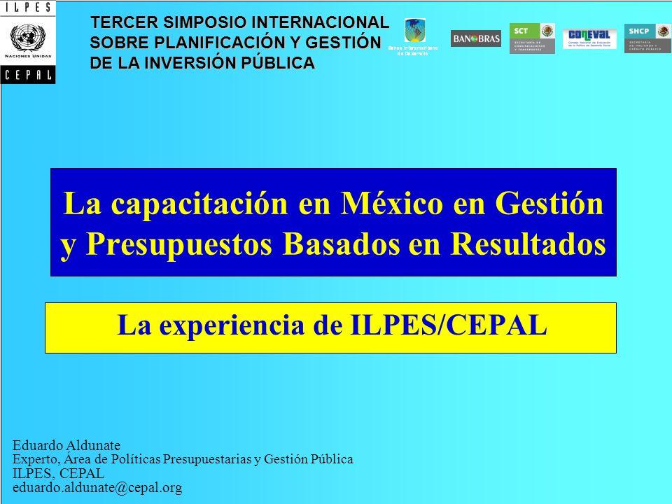La experiencia de ILPES/CEPAL