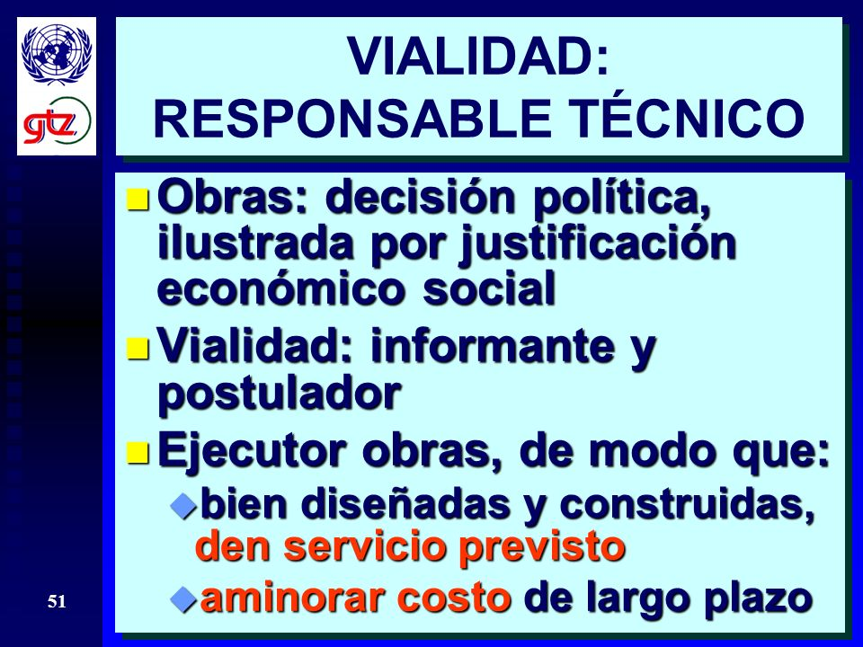 VIALIDAD: RESPONSABLE TÉCNICO
