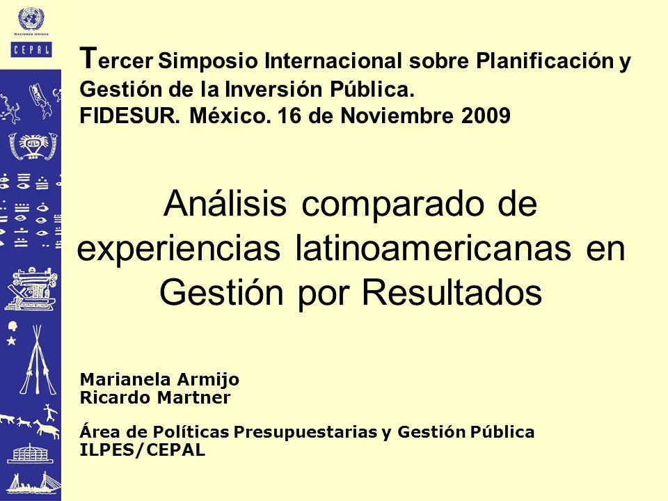 Tercer Simposio Internacional sobre Planificación y Gestión de la Inversión Pública. FIDESUR. México. 16 de Noviembre 2009