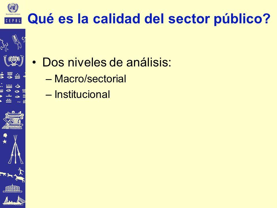 Qué es la calidad del sector público