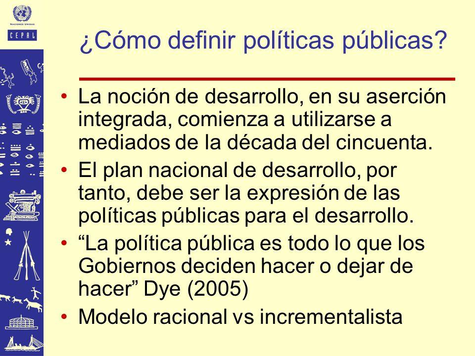 ¿Cómo definir políticas públicas
