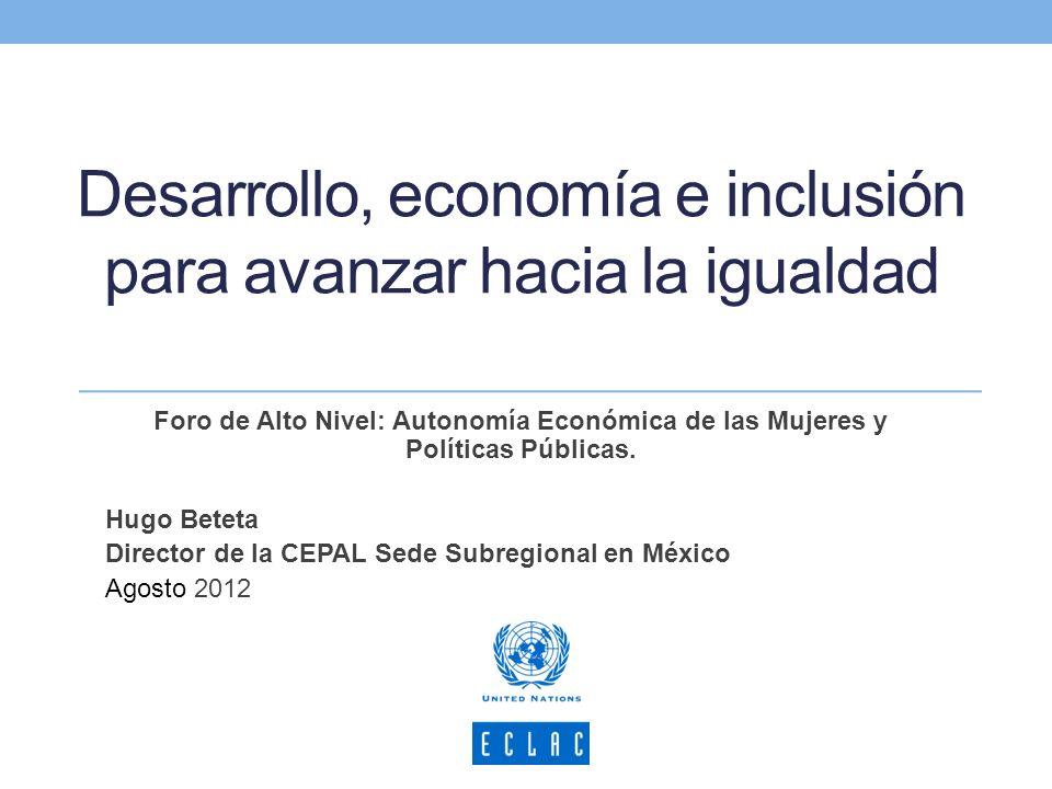 Desarrollo, economía e inclusión para avanzar hacia la igualdad