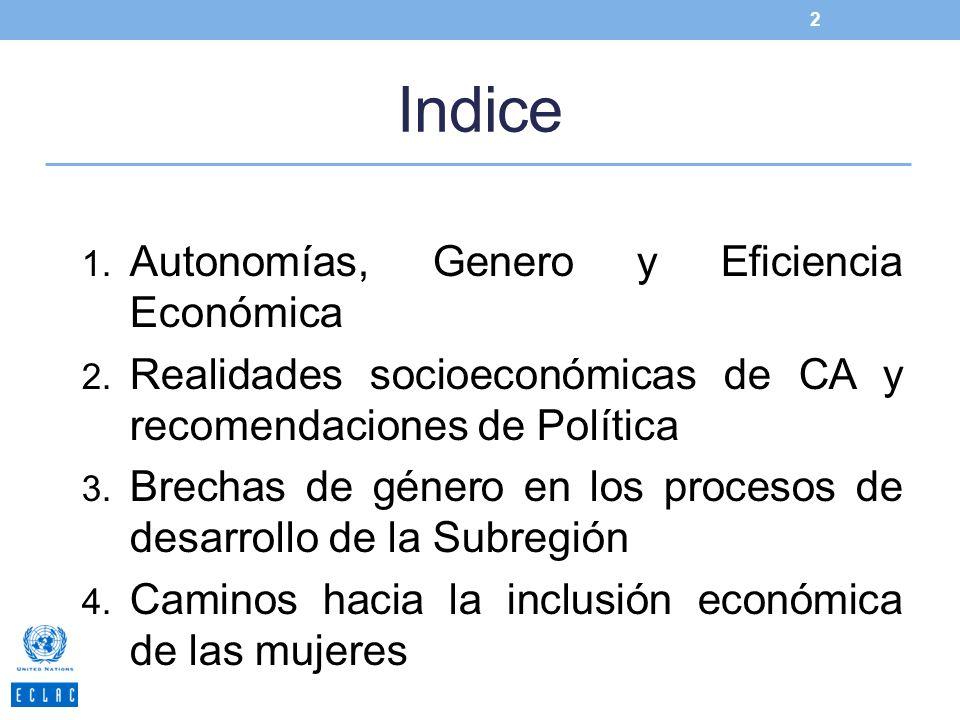 Indice Autonomías, Genero y Eficiencia Económica