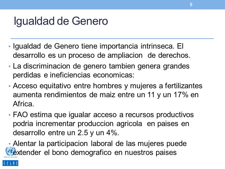 Igualdad de Genero Igualdad de Genero tiene importancia intrinseca. El desarrollo es un proceso de ampliacion de derechos.