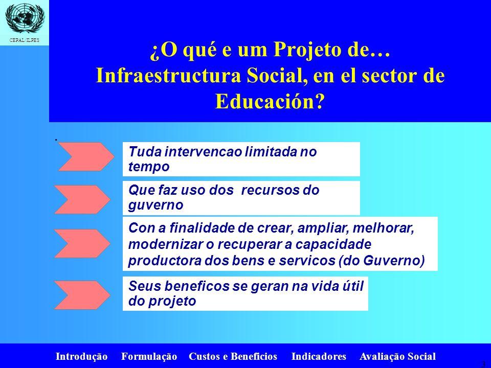 ¿O qué e um Projeto de… Infraestructura Social, en el sector de Educación