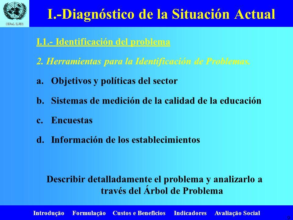 I.-Diagnóstico de la Situación Actual