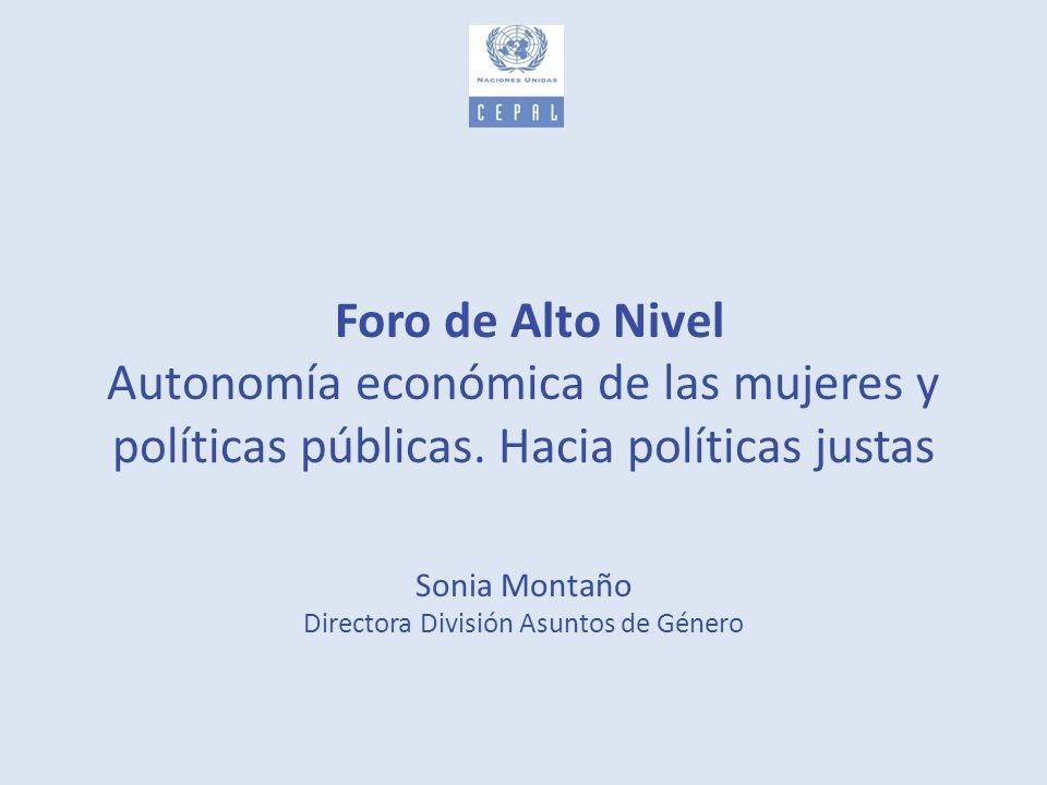 Sonia Montaño Directora División Asuntos de Género
