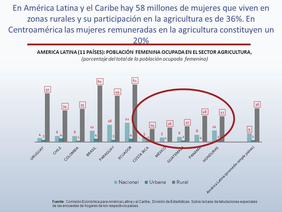(porcentaje del total de la población ocupada femenina)
