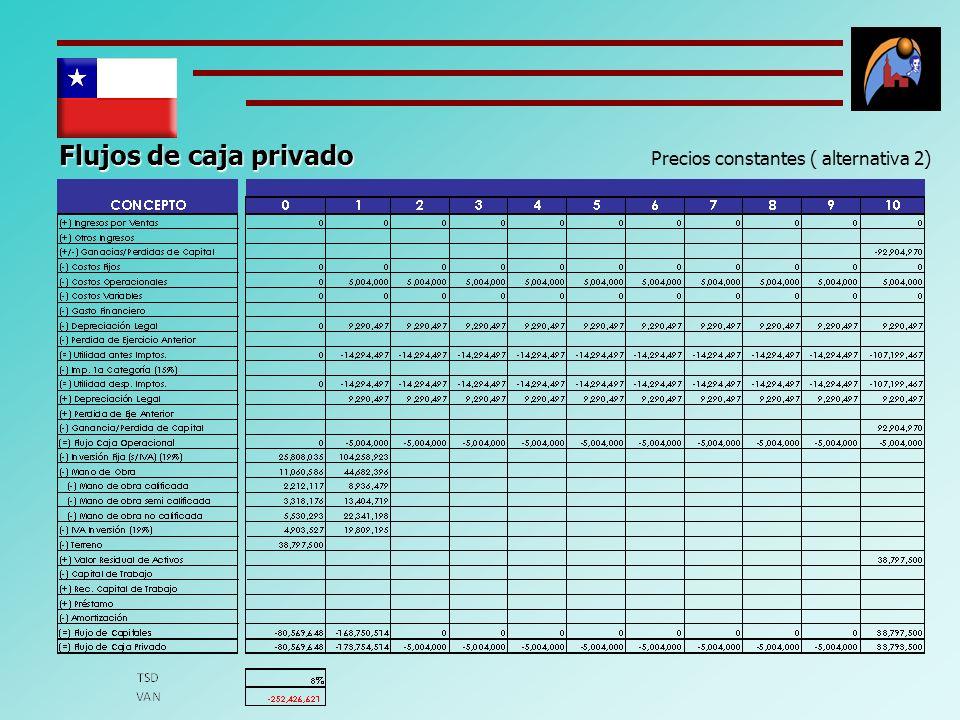 Precios constantes ( alternativa 2)