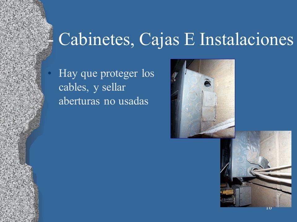 - Cabinetes, Cajas E Instalaciones