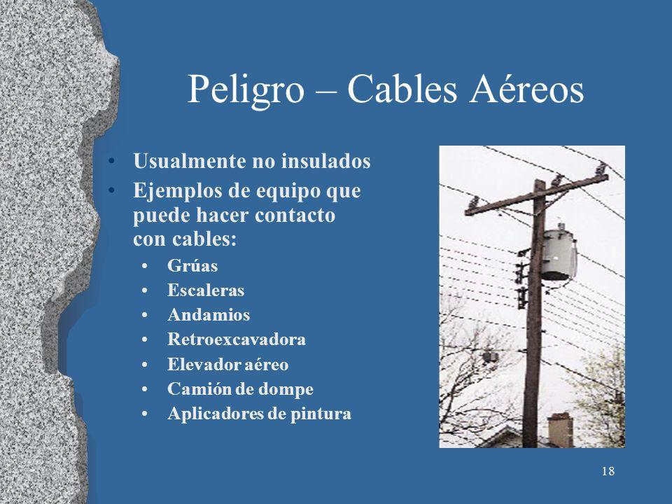 Peligro – Cables Aéreos