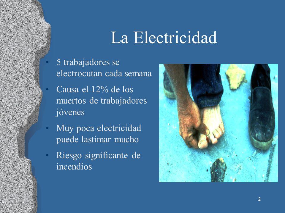 La Electricidad 5 trabajadores se electrocutan cada semana