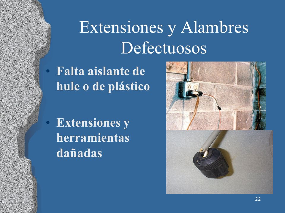 Extensiones y Alambres Defectuosos