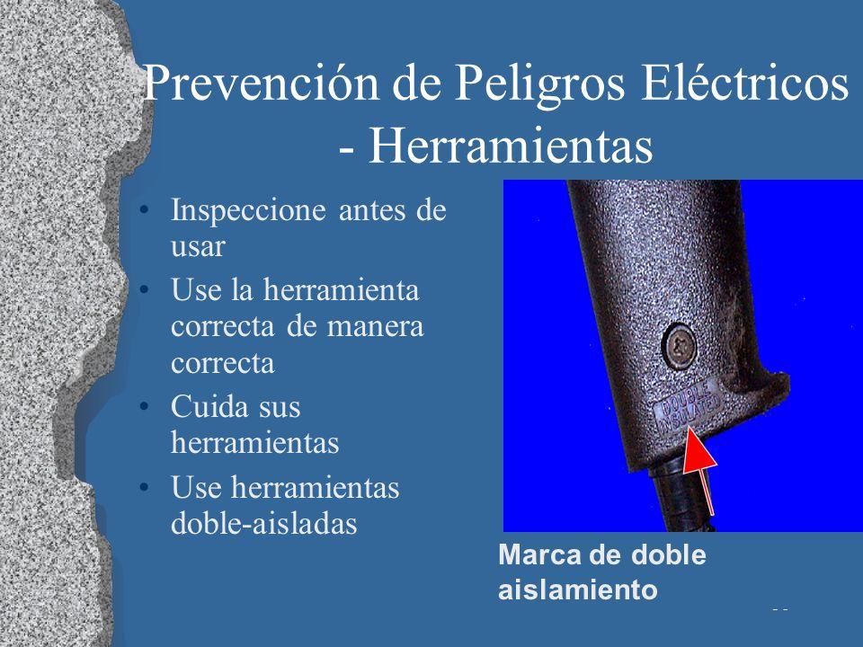 Prevención de Peligros Eléctricos - Herramientas