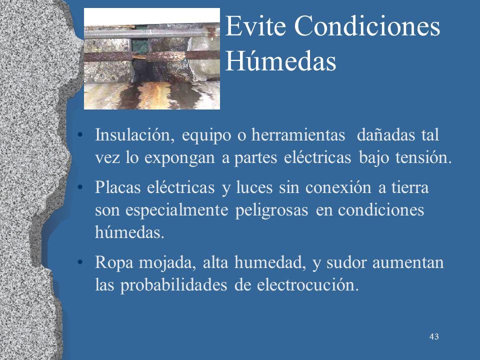 Evite Condiciones Húmedas